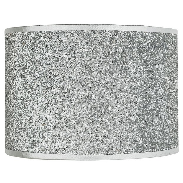 Buy Home Sparkling Fabric Shade Silver At Argos Co Uk