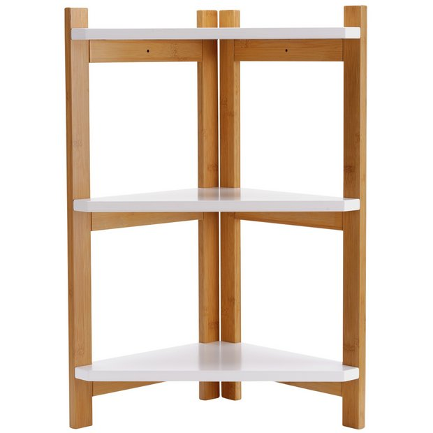 Buy collection 3 tier corner shelf unit two tone at for Bedroom units argos
