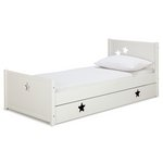 more details on Collection Stars Single Bed with Drawer - White.