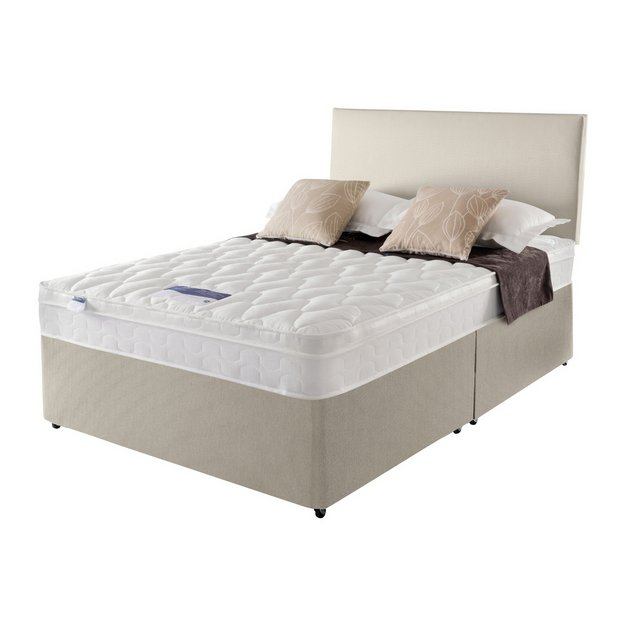 Buy silentnight auckland natural superking divan bed at for Silentnight divan