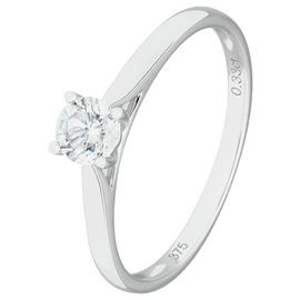 Revere 9ct White Gold 0.33ct Diamond Solitaire Ring