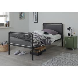 Argos Home Maddox Black Single Bed Frame