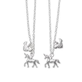 Emoji Unicorn Best Friends Pendant 16 Inch Necklace
