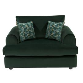 Argos Home Atticus Velvet Cuddle Chair - Green
