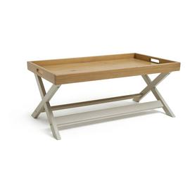 Argos Home Bournemouth Tray Coffee Table - Light Grey