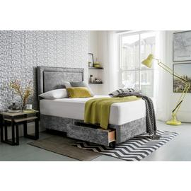 Silentnight Toulouse Superking Divan & Headboard – Silver