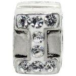 more details on Miss Glitter S.Silver Kids Stone Set Alphabet Charm - I.