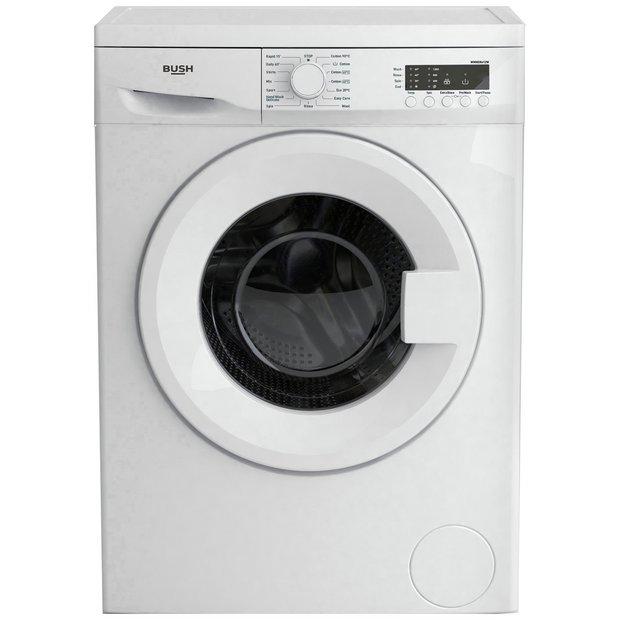 buy bush wmnsn612w 6kg 1200 spin washing machine white. Black Bedroom Furniture Sets. Home Design Ideas