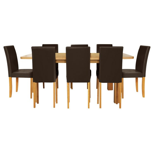 Buy Home Heyford Ext Wood Effect Dining Table 8 Chairs