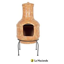 La Hacienda Large Clay Chimenea and Grill