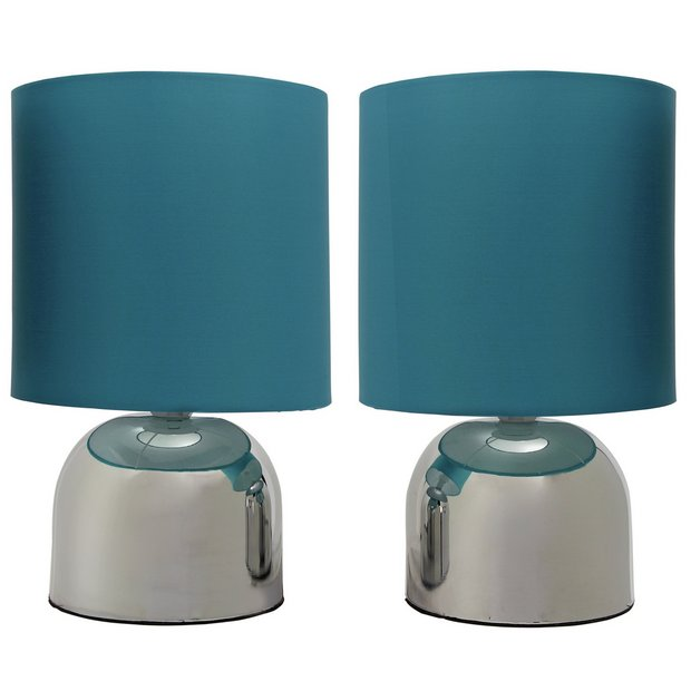 Buy colourmatch pair of touch table lamps lagoon at