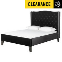 Argos Home Luxford Kingsize Bed Frame - Black Velvet