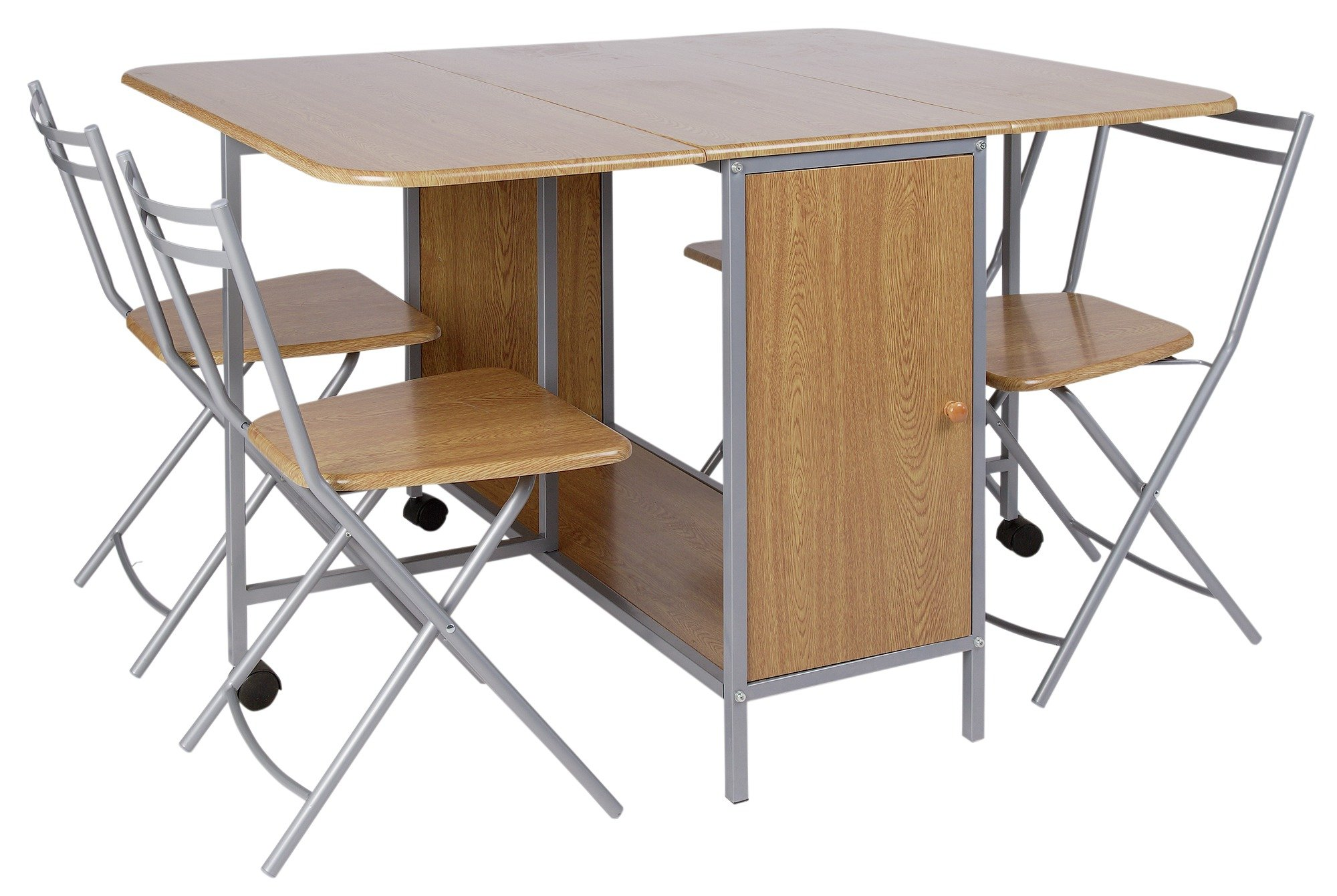 HOME Extendable Rectangular Dining Table U0026 4 Folding Chairs