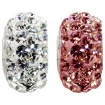 more details on Miss Glitter S.Silver Kids Stone Set Pink/White Washer Beads