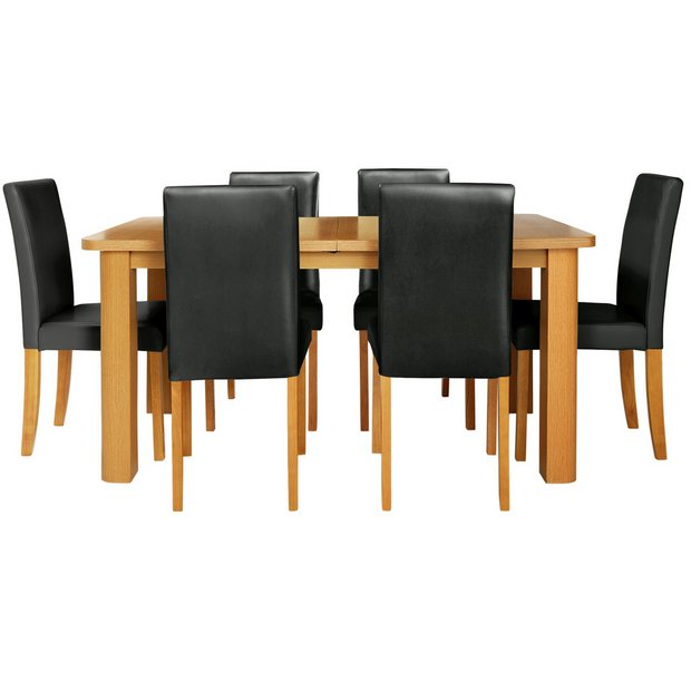 Buy Dining Table And Chairs Online: Buy HOME Heyford Extendable Dining Table And 6 Chairs