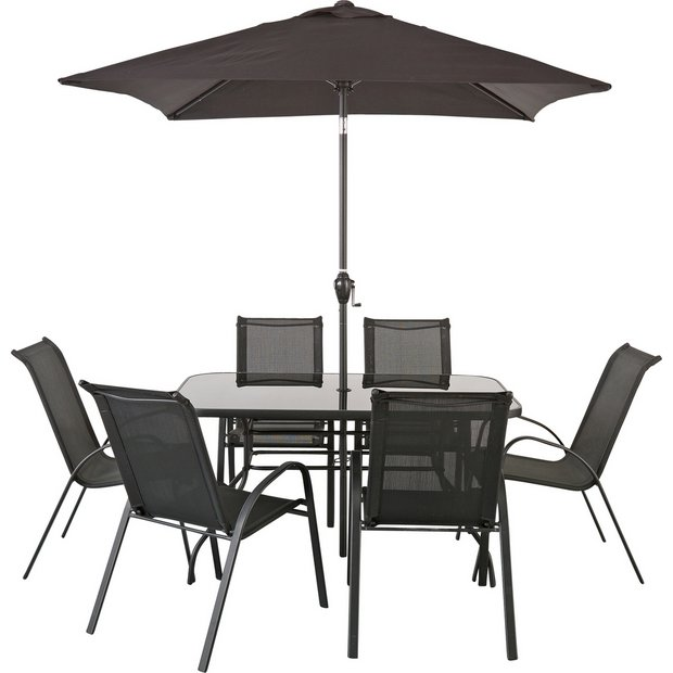 Buy home sicily 6 seater patio set at your online shop for garden table and chair Buy home furniture online uk
