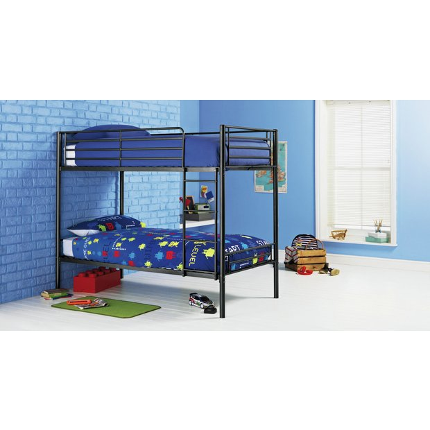 Buy home samuel single bunk bed with ashley mattress black at your online shop Buy home furniture online uk