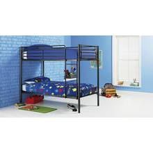 Argos Home Samuel Single Bunk Bed with Kids Mattress - Black