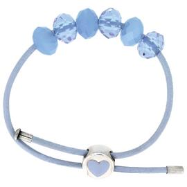 Miss Glitter S.Silver Kids Blue Made Up Bracelet/Heart Clasp