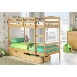 Argos Home Josie Pine Bunk Bed with Drawers & 2 Mattresses