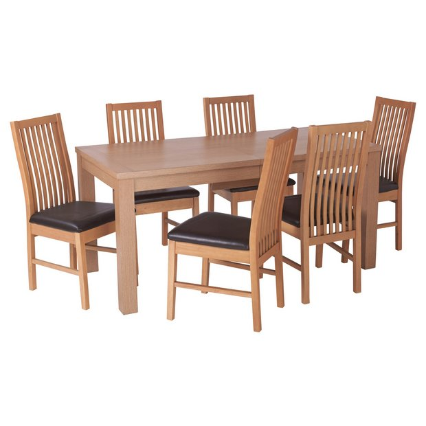 Argos Extending Dining Table And Chairs: Buy HOME Hemsley Extendable Dining Table And 6 Paris