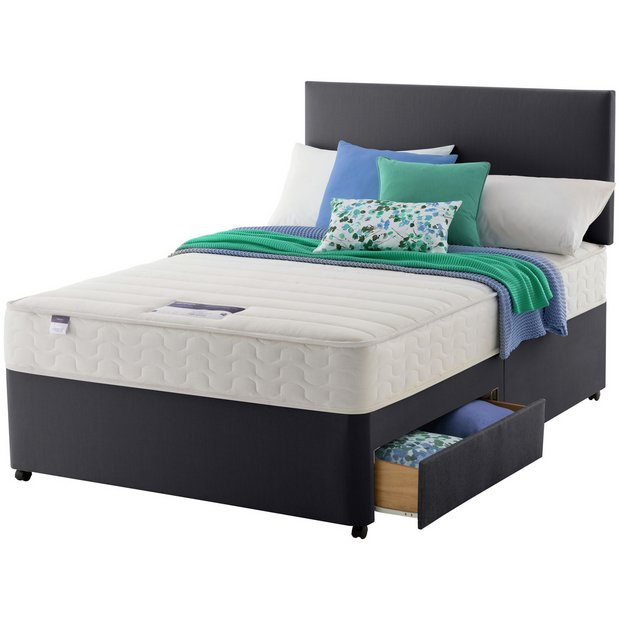 Buy silentnight northolt memory superking 2 drw divan bed at your online shop for Argos single divan beds