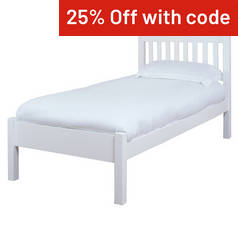 Silentnight Hayes Single Bed Frame - White