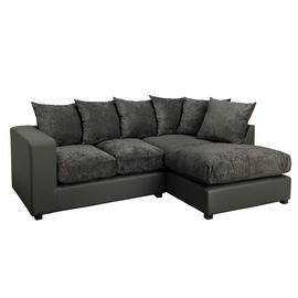 Argos Home Hartley Right Corner Fabric Sofa - Charcoal