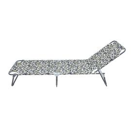 Argos Home Metal Foldable Sun Lounger - Leopard Print