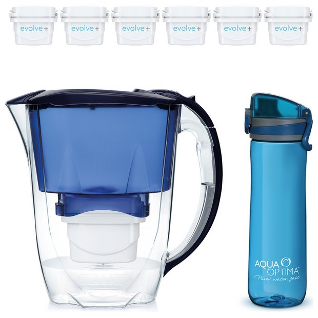 Buy Aqua Optima Oria Water Filter Jug Bottle With 6 Cartridges Water Jugs Argos