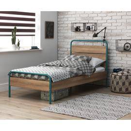 Argos Home Industrial Single Bed & Kids Mattress