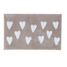Argos Home Hearts Bath Mat - Grey