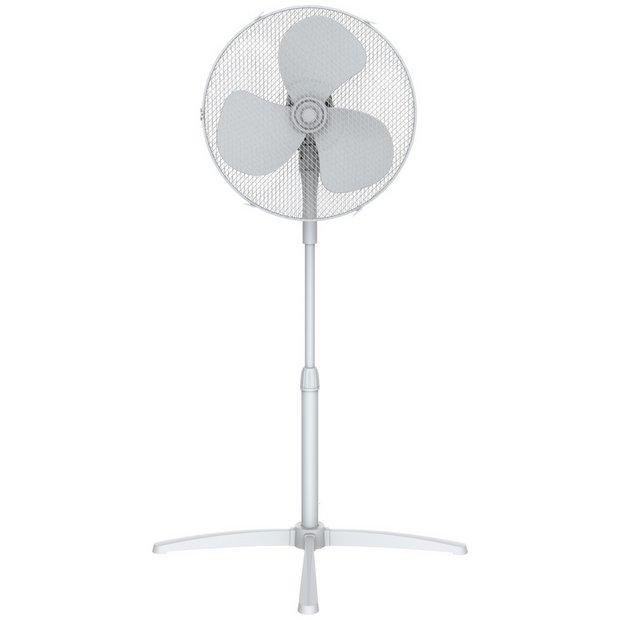 Challenge White Pedestal Fan - 16 Inch