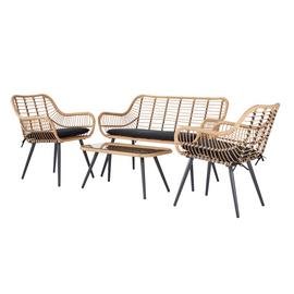 Argos Home 4 Seater Bamboo Sofa Set