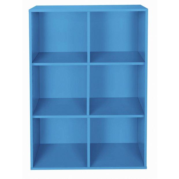 buy home phoenix 6 cube storage unit blue at. Black Bedroom Furniture Sets. Home Design Ideas