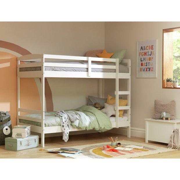 promo code fafbe cac60 Buy Argos Home Josie White Bunk Bed & 2 Kids Mattresses | Kids beds | Argos