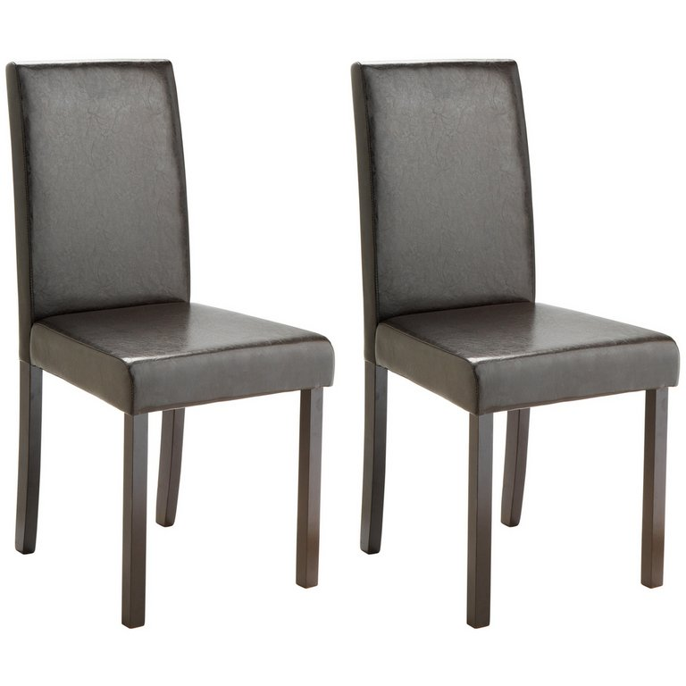 Buy HOME Pair of Leather Effect Mid Back Dining Chairs  : 4590657RSETMain768ampw620amph620 from www.argos.co.uk size 620 x 620 jpeg 20kB