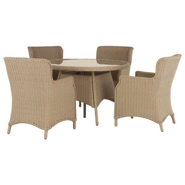 Buy Heart Of House Argenta Rattan Effect 4 Seater Patio