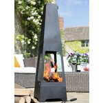 more details on La Hacienda Tall Steel Chiminea.