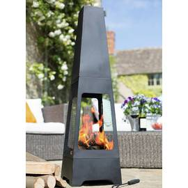 La Hacienda Tall Steel Chiminea