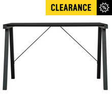 Falco Glass Office Desk - Black