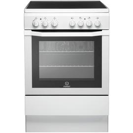 Indesit I6VV2AW 60cm Single Oven Electric Cooker - White Best Price, Cheapest Prices