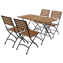 Flora 4 Seater Wooden Patio Set