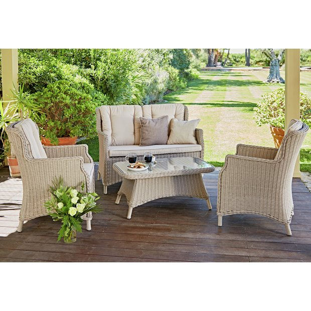 Buy Heart Of House Argenta Rattan Effect 4 Seater Sofa Set At Your Online Shop For