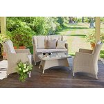 more details on Heart of House Argenta Rattan Effect 4 Seater Sofa Set.