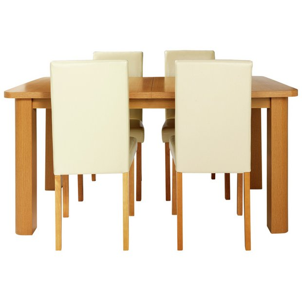 Buy Home Heyford Extendable Dining Table And 4 Chairs