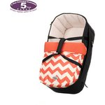 more details on Obaby Zeal Carrycot - ZigZag Orange.