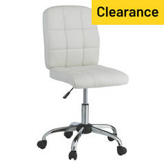 Argos Home Jarvis Gas Lift Office Chair - White