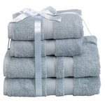 more details on Heart of House Egyptian Cotton 4 Piece Towel Bale -Dove Grey