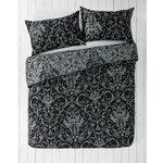 more details on HOME Black and Grey Damask Bedding Set - Kingsize.